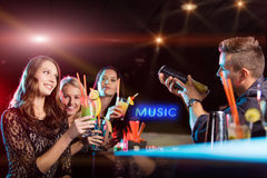 Group of young people having party celebration. Royalty Free Stock Photography