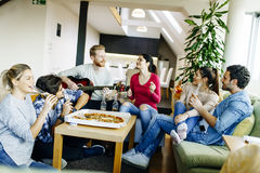 Group of young people having a party Royalty Free Stock Photography