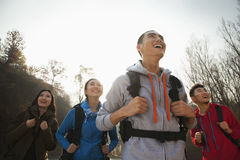 Group of young people hiking Stock Photography