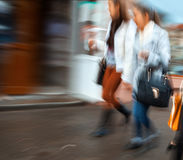 Group of young people hurrying about their business Royalty Free Stock Photography