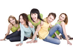 Group of young people. Isolated. Royalty Free Stock Photography