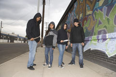Group Of Young People With Knives Royalty Free Stock Photo