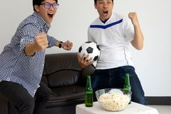 Tv broadcast program cheer and existing Stock Photos