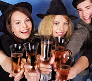 Group young people at nightclub. Stock Image