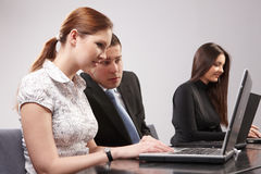 Group of young people in the office working togeth Stock Image