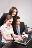 Group of young people in the office working togeth Royalty Free Stock Photography