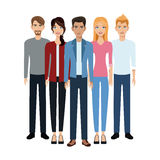 Group of young people Stock Images