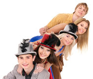 Group young people on party. Royalty Free Stock Photos