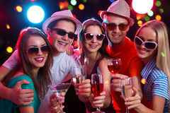Group of young people at party Royalty Free Stock Image