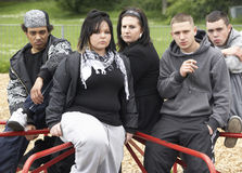 Group Of Young People In Playground Stock Photo