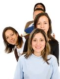Group of young people queueing Royalty Free Stock Photo