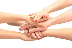 Group of young people's hands Stock Photography
