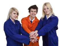 Group Of Young People's Hands Together Stock Photography