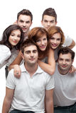 Group of young people smiling Royalty Free Stock Photos
