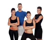 Group of young people with sport clothes Royalty Free Stock Images