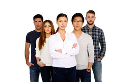 Group of a young people Stock Image