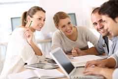 Group of young people studying in team Royalty Free Stock Image