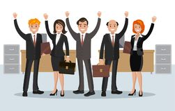 Vector illustration of office staff. Royalty Free Stock Photography