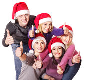 Group young people thumb up. Stock Photography