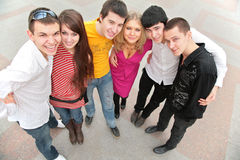 Group of young people from top Stock Images