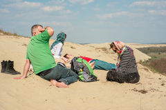 Group of young people tourists rest Royalty Free Stock Photography