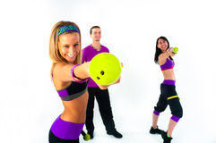 A group of young people training Stock Image