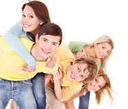 Group of young people on white. Stock Images