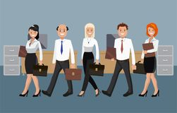 Vector illustration of office staff. Royalty Free Stock Images
