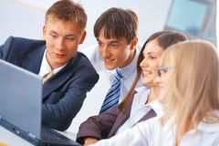Group of young people working Royalty Free Stock Photo