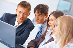 Group of young people working Royalty Free Stock Image