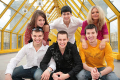Group of young persons pose Stock Photography