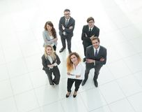 Group of young professionals. The view from the top Royalty Free Stock Photos