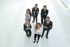 Group of young professionals. The view from the top Royalty Free Stock Images