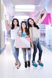 Group of young shoppers at mall Stock Photos