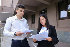 Group of young smart business asian professionals, international Royalty Free Stock Photography