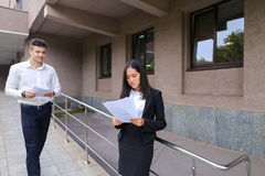 Group of young smart business asian professionals, international Stock Images