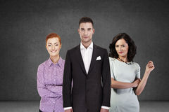 Group of young smiling business people Stock Photography