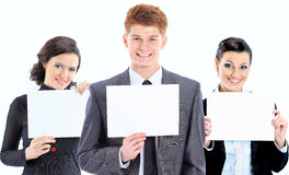 Group of young smiling business people Stock Image