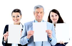 Group of young smiling business people Royalty Free Stock Image