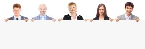 Group of young smiling business people Royalty Free Stock Images