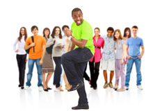 Group of the young smiling students Stock Images