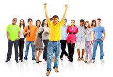 Group of the young smiling students Stock Image