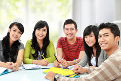 Group of young student Royalty Free Stock Photos