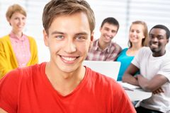 Group of young students Royalty Free Stock Photo