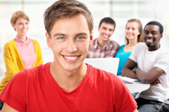 Group of young students Royalty Free Stock Photos