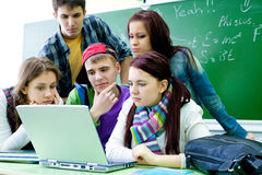Students studying Stock Image