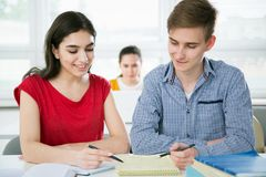 Group of young students Royalty Free Stock Image