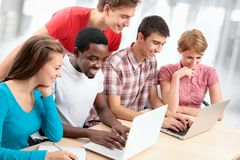 Group of young students Royalty Free Stock Photography
