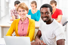 Group of young students Stock Photos