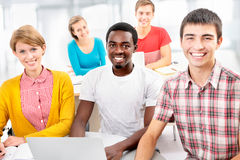 Group of young students Royalty Free Stock Images